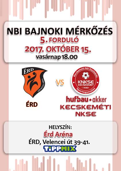 NB1 Bajnoki Mérkőzés – ÉRD-Akker Kecskeméti NKSE