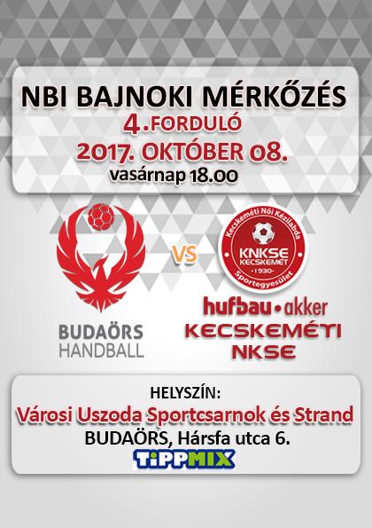NB1 Bajnoki Mérkőzés – Budaörs Handball – Hufbau-Akker Kecskeméti NKSE
