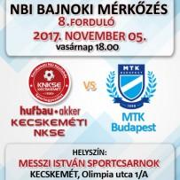 NB1 Bajnoki Mérkőzés – Hufbau-Akker Kecskeméti NKSE – MTK Budapest