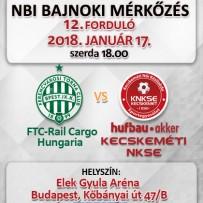 NB1 Bajnoki Mérkőzés – FTC-Rail Cargo Hungaria – Hufbau-Akker Kecskeméti NKSE