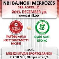 NB1 Bajnoki Mérkőzés – Hufbau-Akker Kecskeméti NKSE – Győri Audi ETO KC