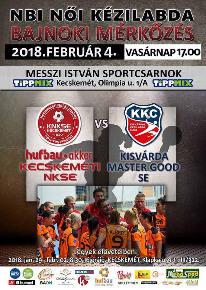 Vasárnap a Kisvárda csapatát fogadjuk hazai könyezetben