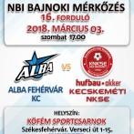 NB1 Bajnoki Mérkőzés – Alba Fehérvár KC – Hufbau-Akker Kecskeméti NKSE