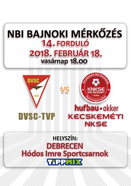 NB1 Bajnoki Mérkőzés – DVSC-TVP – Hufbau-Akker Kecskeméti NKSE
