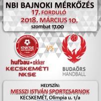 NB1 Bajnoki Mérkőzés – Hufbau-Akker Kecskeméti NKSE – Budaörs Handball