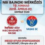 NB1 Bajnoki Mérkőzés –Hufbau-Akker Kecskeméti NKSE – Vasas SC