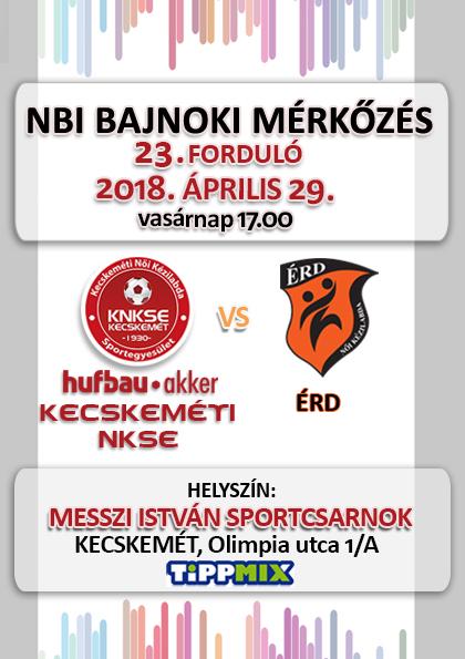 NB1 Bajnoki Mérkőzés –Hufbau-Akker Kecskeméti NKSE – ÉRD