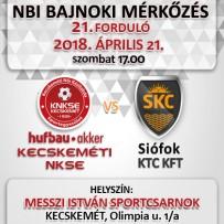 NB1 Bajnoki Mérkőzés –Hufbau-Akker Kecskeméti NKSE – Siófok KTC KFT