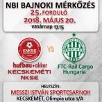NB1 Bajnoki Mérkőzés –Hufbau-Akker Kecskeméti NKSE – FTC-Rail Cargo Hungaria
